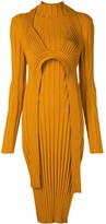 Proenza Schouler Heavy Rib Long Sleeve Mid Dress