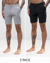 Asos Short 2 Pack Grey/ Black Save