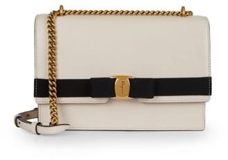Salvatore Ferragamo Vara Bi-Color Leather Crossbody Bag