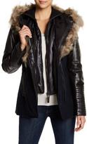 Rudsak Genuine Leather & Wolf Fur Trimmed Jacket