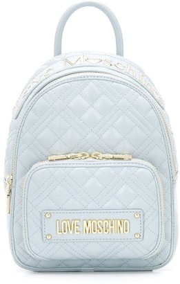 Love Moschino Quilted Logo Backpack