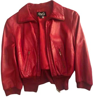 Dolce & Gabbana Red Leather Leather Jacket for Women
