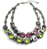 "Nicole Miller Double Layer Statement Bolt Slide 18"" Necklace"