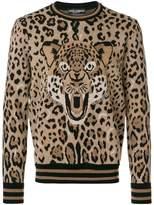 Dolce & Gabbana Leopard Jacquard sweatshirt