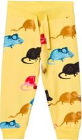 Mini Rodini Yellow Mr Mouse Sweatpants