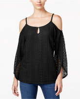 INC International Concepts Petite Cold-Shoulder Lace Peasant Top, Only at Macy's