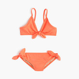 J.Crew Girls' bow bikini set in neon