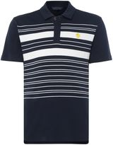 Perry Ellis Men's Placed Stripe Short-Sleeve Polo-Shirt