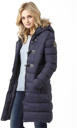 Brave Soul Womens Wizard Long Padded Jacket Navy