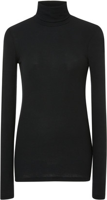 ATM Anthony Thomas Melillo Ribbed Stretch-Micro Modal Turtleneck Sweat