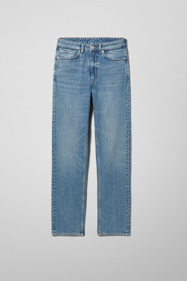 Weekday Case High Straight Jeans - Blue