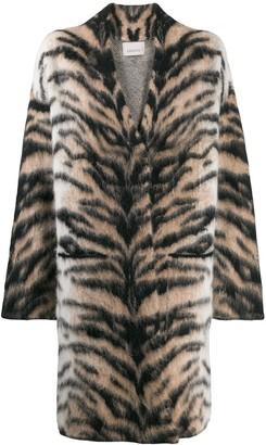 Laneus Oversized Tiger Pattern Coat