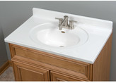 """Imperial Star Recessed Center Oval Bowl 31"""" Single Bathroom Vanity Top"""
