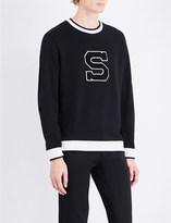 Sandro University cotton-jersey sweatshirt