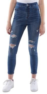 Vanilla Star Juniors' High Rise Curvy Pull-On Jeans
