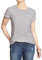 Old Navy Women's Striped Crepe Blouses
