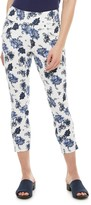 Utopia By Hue Women's Utopia by HUE High Rise Flawsome Denim Floral Capri Leggings