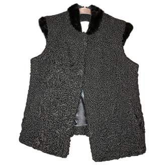 Astrakhan Non Signé / Unsigned Non Signe / Unsigned \N Black Jacket for Women