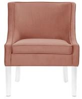 Nicole Miller Marlon Velvet Slipper Chair Upholstery Color: Blush