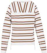 Marni - Striped Cotton Sweatshirt - Mens - White