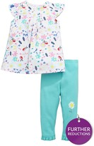 Ladybird Baby Girls Floral Woven Top And Legging Set