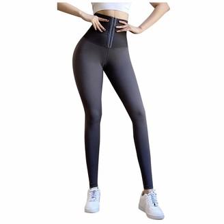 TJCJIEM Seamless Gym Leggings Women High Waist Workout Fitness Compression Yoga Pants Women Butt Scrunch Push Up Leggings Body Shaping Pants Plus Cashmere Gray