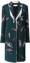 Emilio Pucci feather print coat - women - Wool - 40