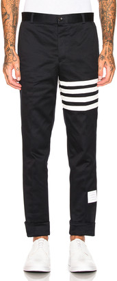 Thom Browne Cotton Twill Unconstructed Chino in Navy | FWRD