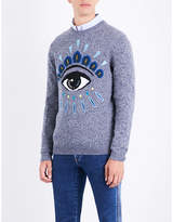 Kenzo Eye Icon-motif Wool And Cotton-blend Jumper