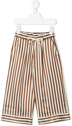 Caffe Caffe' D'orzo striped drawstring trousers