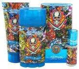 Christian Audigier Ed Hardy Hearts & Daggers by Gift Set - 3.4 oz Eau De Toilette Spray + 3 oz Shower Gel + 2.75 oz Deodorant Stick + .25 oz Mini EDT Spray by
