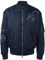 Diesel Black Gold embroidered bomber jacket - men - Polyamide/Polyester/Spandex/Elastane - 46