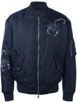 Diesel Black Gold embroidered bomber jacket