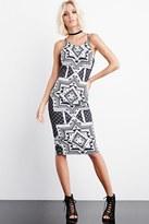Forever 21 FOREVER 21+ Rise of Dawn Good Vibes Midi Dress