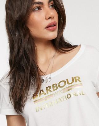 Barbour International Hurricane tee in white