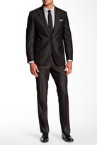 Kenneth Cole New York Pinstripe Two Button Peak Lapel Suit
