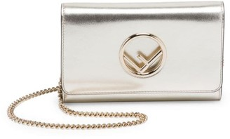 Fendi Small Metallic Leather Wallet-On-Chain