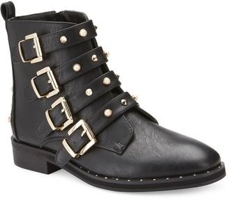 OLIVIA MILLER Larsen Women's Buckle Ankle Boots