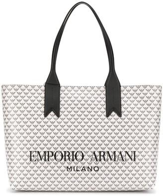 Emporio Armani all-over logo tote bag