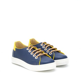 Montelpare Tradition Contrast-Trimmed Low-Top Sneakers