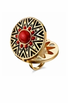 House Of Harlow Tribal Ring in Coral