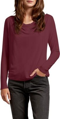 Michael Stars Ellen Luxe Jersey Drape Tee