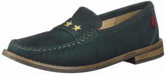 Marc Joseph New York Unisex-Kid's Leather Loafer with Gold Embroidered Star