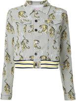 Giamba tiger print denim jacket - women - Cotton - 44