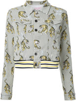 Giamba tiger print denim jacket