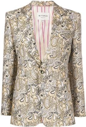 Etro Paisley Print Tailored Blazer