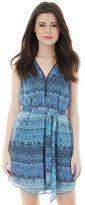 Juniors' IZ Byer California Print Zipper Neck Dress