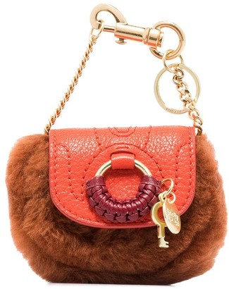 See by Chloe Hana faux-fur detail mini bag
