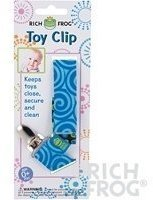 Rich Frog Toy Clip or Pacifier Holder - Pink, Blue or Orange (Blue) by