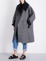 Daniel Gregory Natale Oversized herringbone alpaca coat